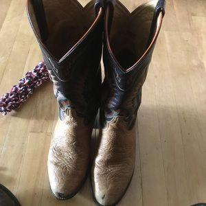 Vintage tony lama cowboy boots sz9D